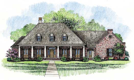 Southern Style House Plans Plan: 91-137