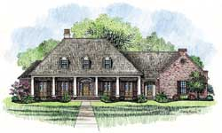 Southern Style Home Design Plan: 91-137