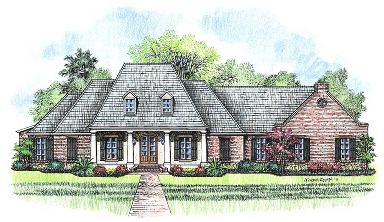 Southern Style House Plans Plan: 91-141