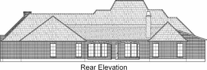 Rear Elevation Plan: 91-141