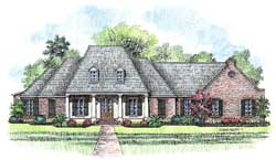 Southern Style Floor Plans Plan: 91-141