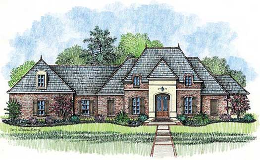 French-country Style House Plans Plan: 91-142