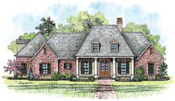 Southern Style Floor Plans Plan: 91-143