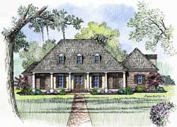 Southern Style Floor Plans Plan: 91-144