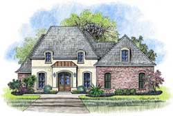 French-Country Style Floor Plans Plan: 91-146