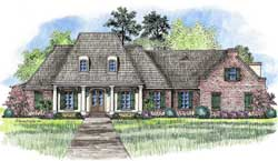 Southern Style Floor Plans Plan: 91-149