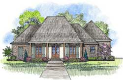 Southern Style Floor Plans Plan: 91-152