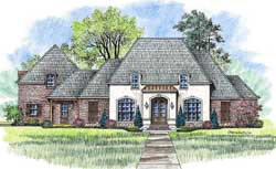 French-Country Style Floor Plans Plan: 91-153