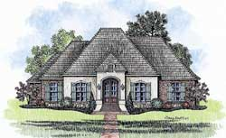 French-Country Style Floor Plans Plan: 91-154
