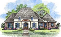 French-Country Style Floor Plans Plan: 91-155