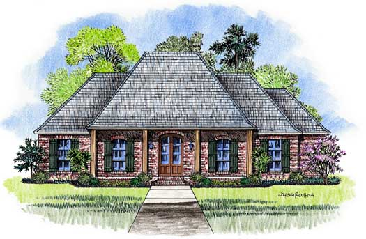 French-country House Plan - 3 Bedrooms, 2 Bath, 2047 Sq Ft ... on kabel house plans, french cajun house plans, acadian style floor plans, acadian home plans, cool small house plans, contemporary house plans, bungalow style house plans, southern living house plans, english house plans, southern style house plans, quaint cottage house plans, authentic victorian house plans, country southern house plans, french creole house plans, bungalow cottage house plans, 9 bedroom house plans, new orleans style house plans, barn shaped house plans, small colonial house plans, plantation house plans,