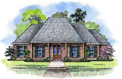 French-Country Style Floor Plans Plan: 91-156