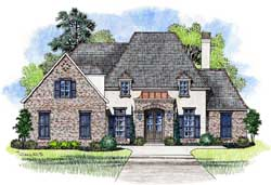 French-Country Style House Plans Plan: 91-159