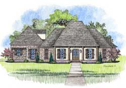 Southern Style Floor Plans Plan: 91-160