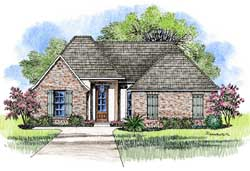 Southern Style Floor Plans Plan: 91-161