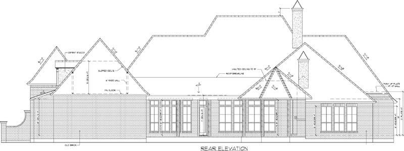 Rear Elevation Plan: 91-162