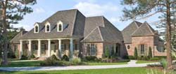French-Country Style House Plans Plan: 91-162