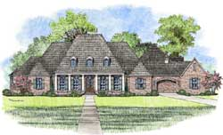 French-Country Style Floor Plans Plan: 91-163