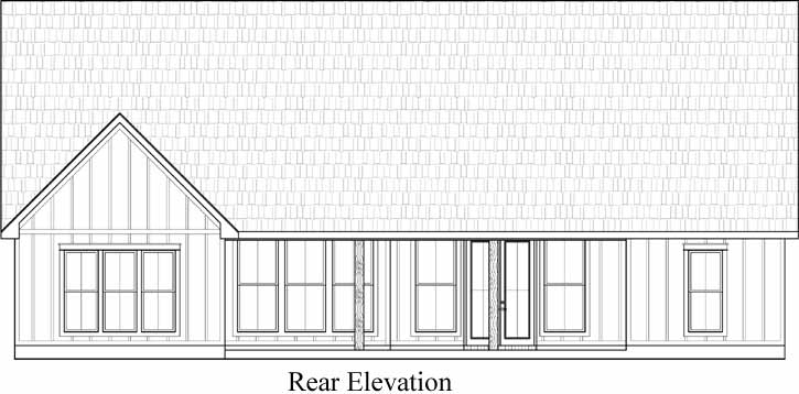 Rear Elevation Plan: 91-165