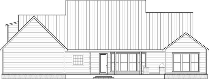 Rear Elevation Plan: 91-166