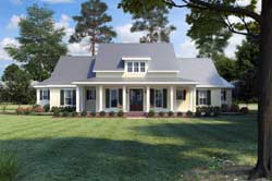 Modern-Farmhouse Style Home Design 91-166