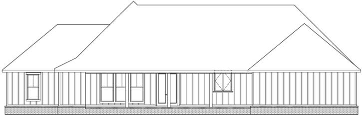 Rear Elevation Plan: 91-168
