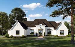 European Style Home Design Plan: 91-170