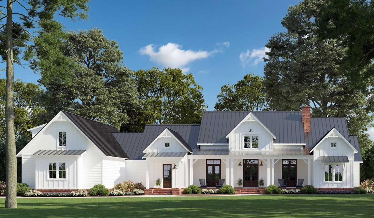 Modern-farmhouse Style House Plans Plan: 91-171