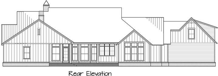 Rear Elevation Plan: 91-171
