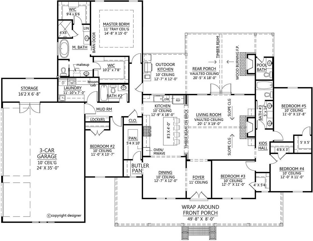 Main Floor Plan: 91-172