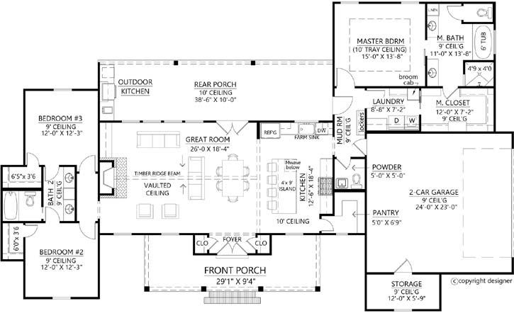 Main Floor Plan: 91-173