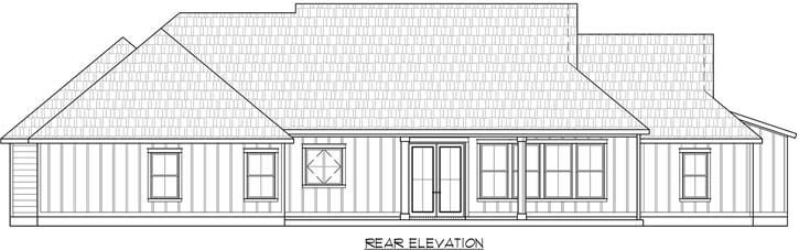 Rear Elevation Plan: 91-173