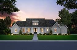 Modern-Farmhouse Style House Plans Plan: 91-173