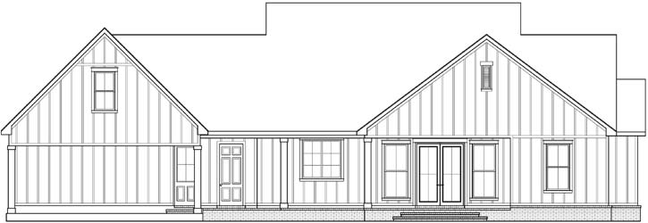 Rear Elevation Plan: 91-174
