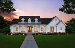Modern-Farmhouse Style House Plans Plan: 91-174