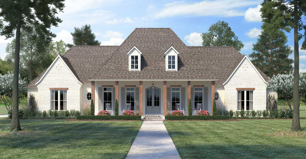 French-country Style Floor Plans Plan: 91-178