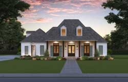 Southern Style Home Design Plan: 91-196