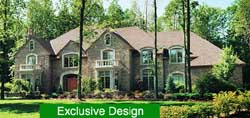 French-Country Style Home Design Plan: 93-101