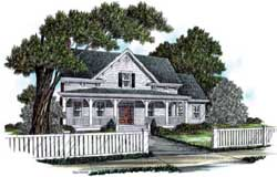 Southern Style Home Design Plan: 94-103