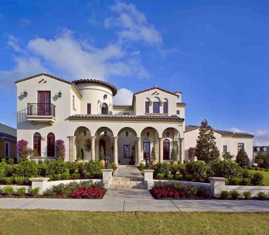 Mediterranean Style Home Design Plan: 95-106
