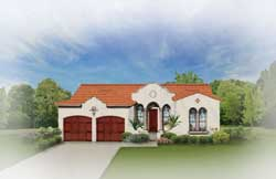 Italian Style Home Design Plan: 95-116