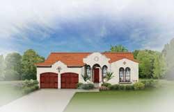 Italian Style House Plans Plan: 95-117