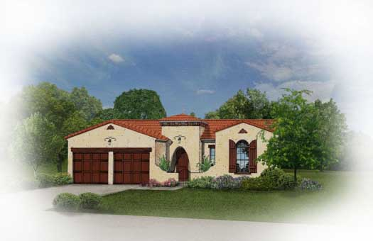 Spanish Style Home Design Plan: 95-120
