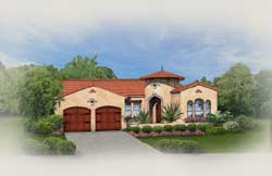 Spanish Style Home Design Plan: 95-121