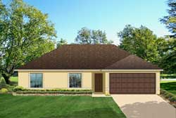 Traditional Style Home Design Plan: 95-123
