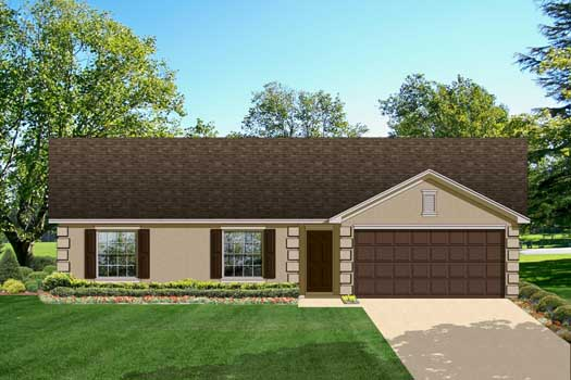 Traditional Style Home Design Plan: 95-124