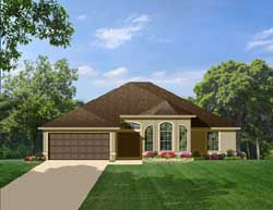 Traditional Style Home Design Plan: 95-129