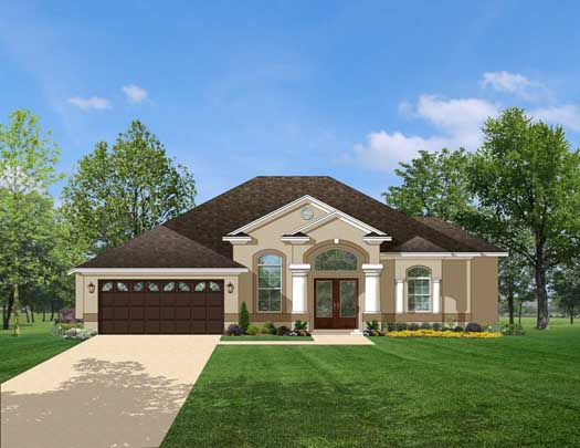 Mediterranean Style House Plans Plan: 95-130