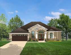 Mediterranean Style Home Design 95-130