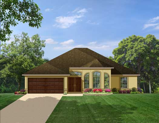 Traditional Style Home Design Plan: 95-131